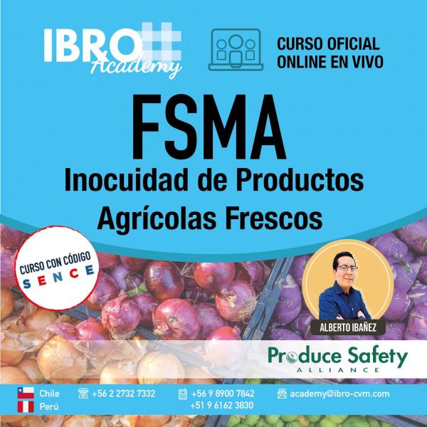 La ley FSMA se implementa con 7 reglamentos, uno de ellos es para productores de productos agrícolas frescos.